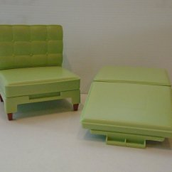 Chair That Converts To A Bed Used Lift Chairs For Elderly Vintage Barbie Green And Ottoman Clb 968
