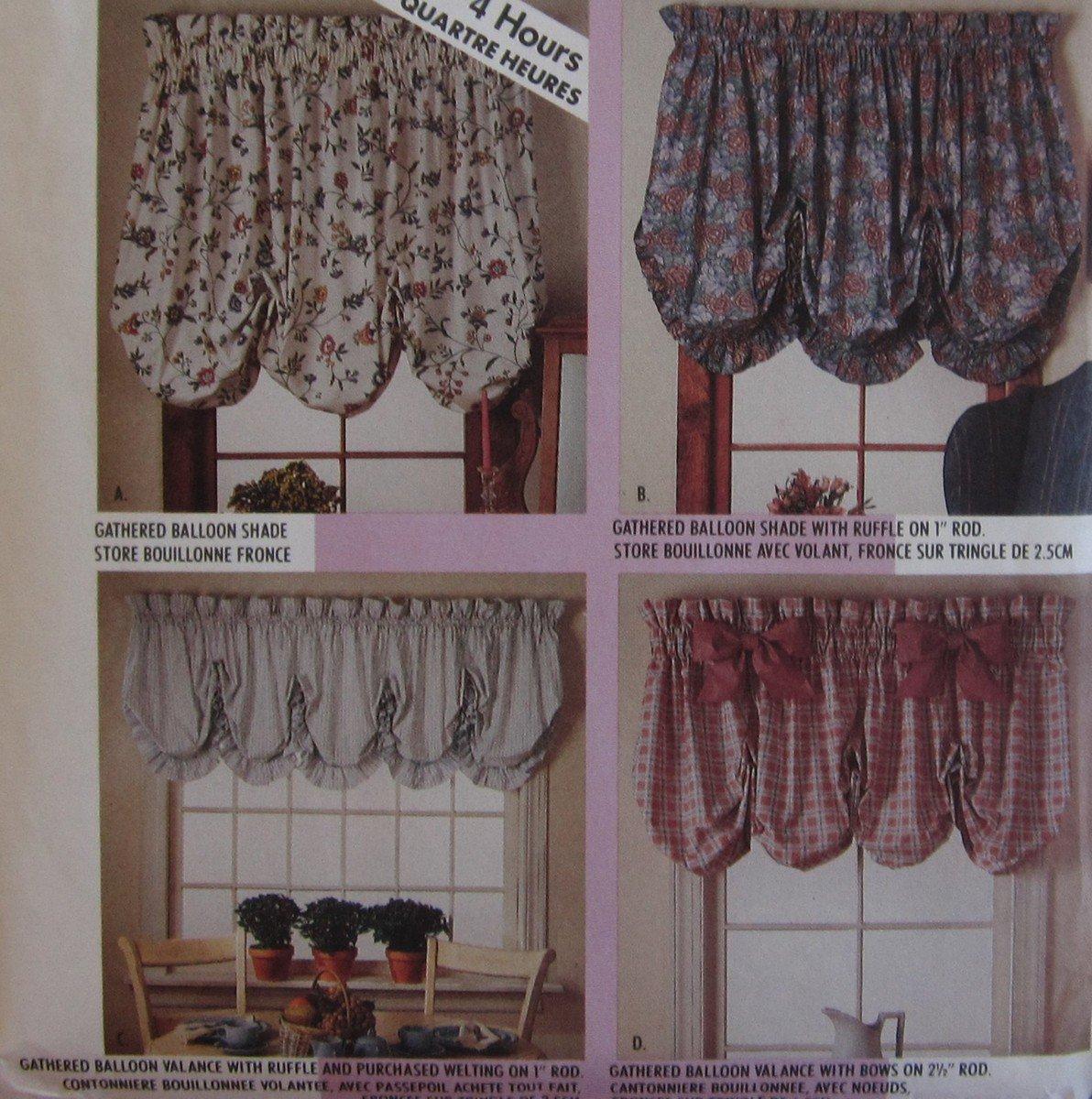 Mccalls Pattern Balloon Shades And Valances Home Dec