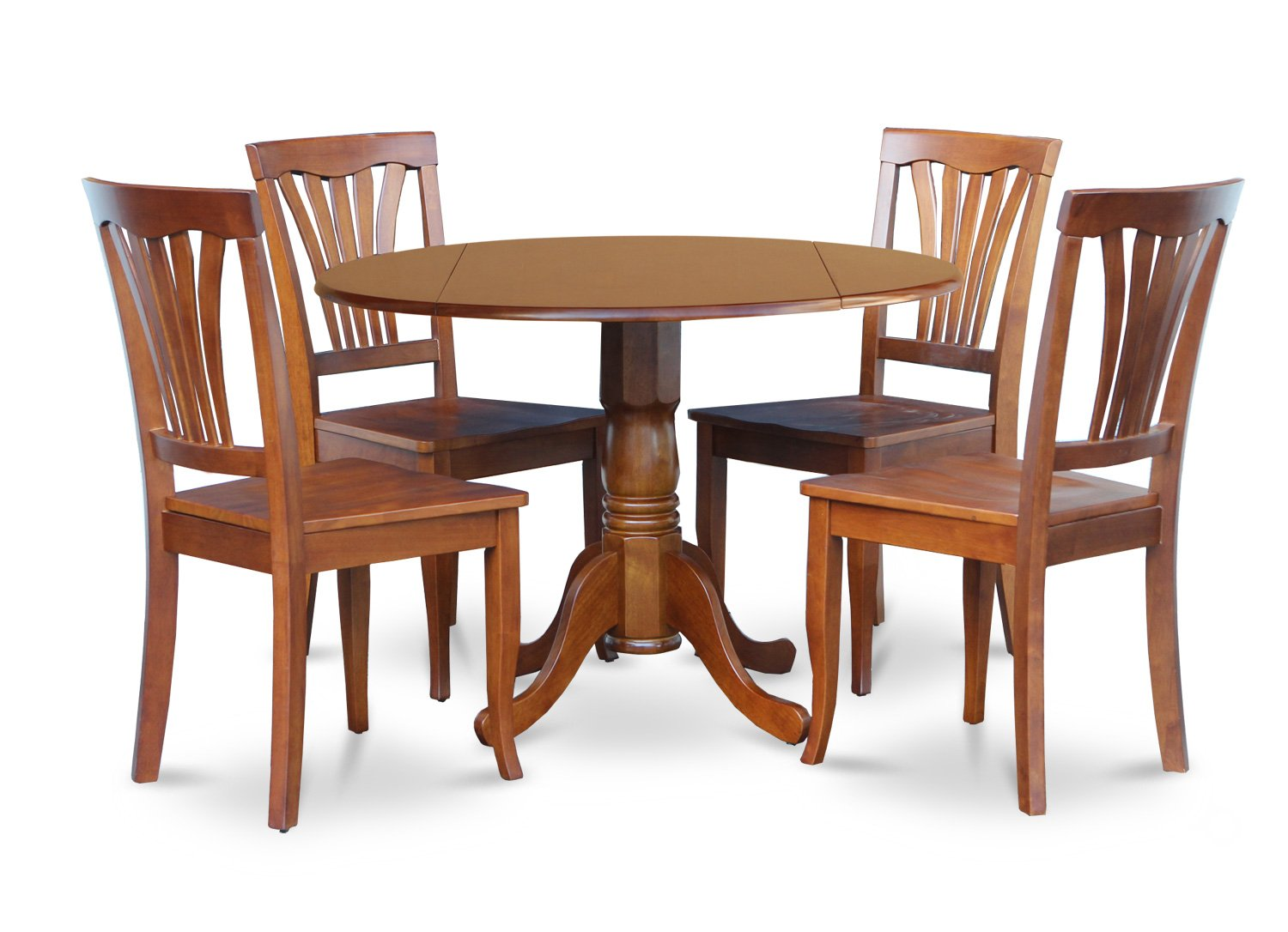 Round Kitchen Table And Chairs 5 Piece Dublin Dinette Kitchen 42 Diameter Round Table 4