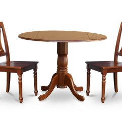 Dining Table And Chairs Dublin Chair Sash Accessories 3 Piece Dinette Kitchen 42diameter Round 2