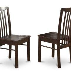 Dark Walnut Dining Chairs Cane Seat Room Set Of 2 Hartland In Black Finish