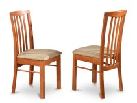 Set of 2 Hartland dining room chairs in Light Cherry finish.