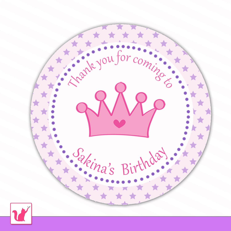 princess gift favor labels