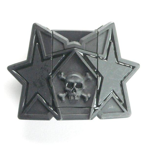 Black Stars Heavy Metal Skull Bones & Zippo Style Lighter