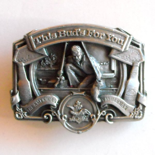 American Fisherman Bud Anheuser Busch Pewter