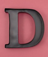 New Metal Monogram Wine Cork Holder Letter D