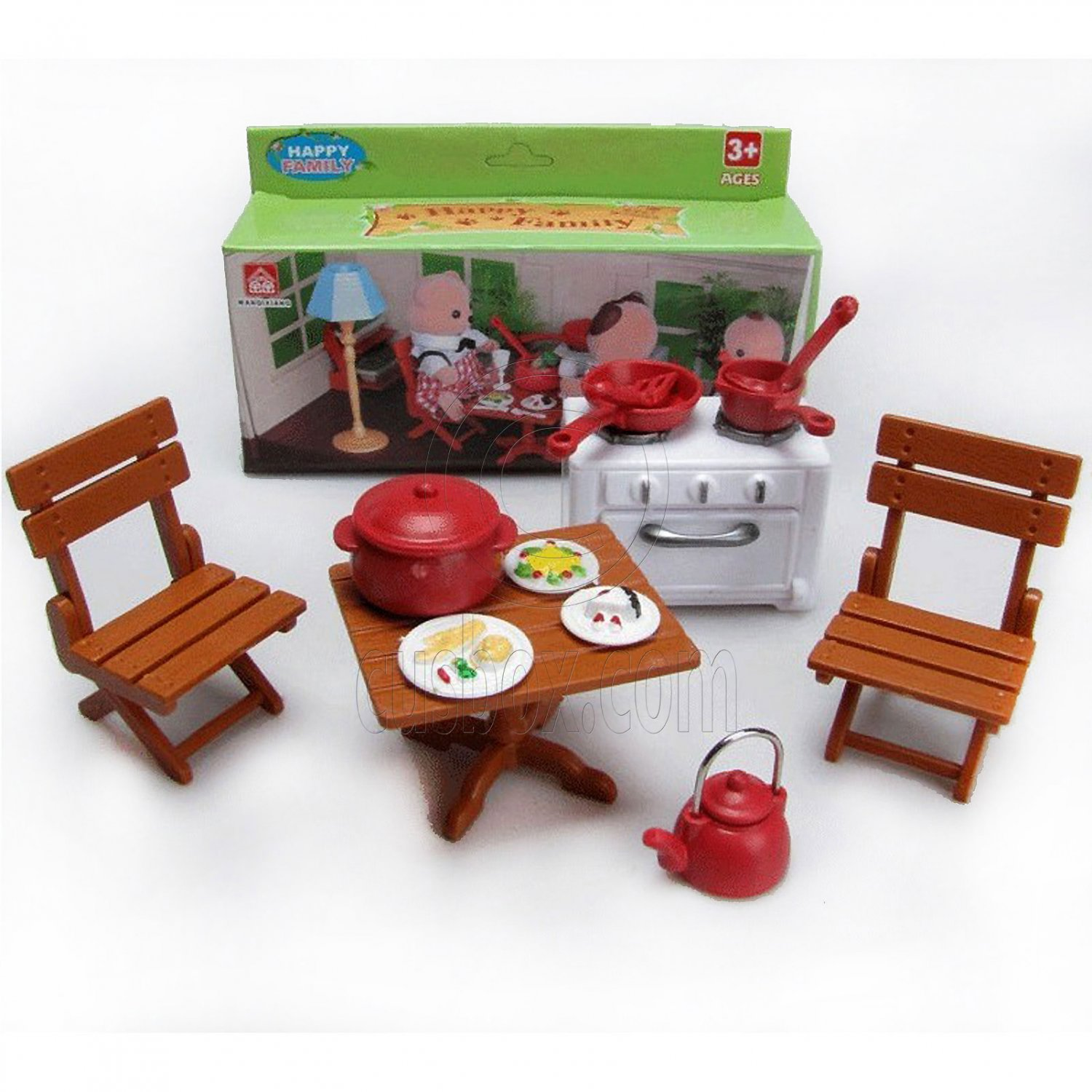 Critter Chair Table Chair Stove Dishes For Sylvanian Families Furryville