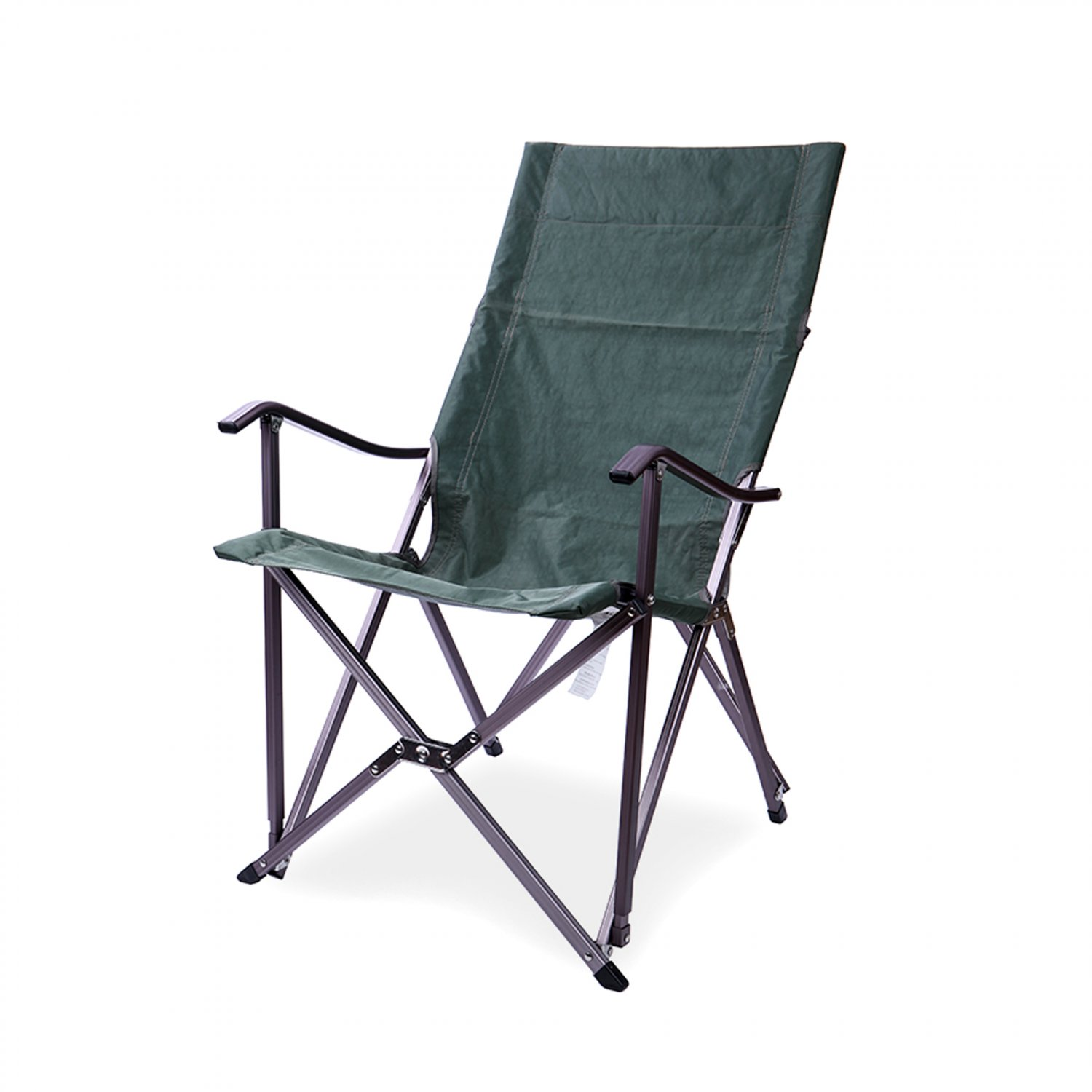 portable folding high chair ergonomic headrest lightweight relax camping seat w