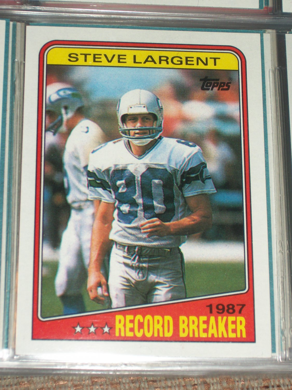 Steve Largent RARE 1988 Topps Record Breakers football card