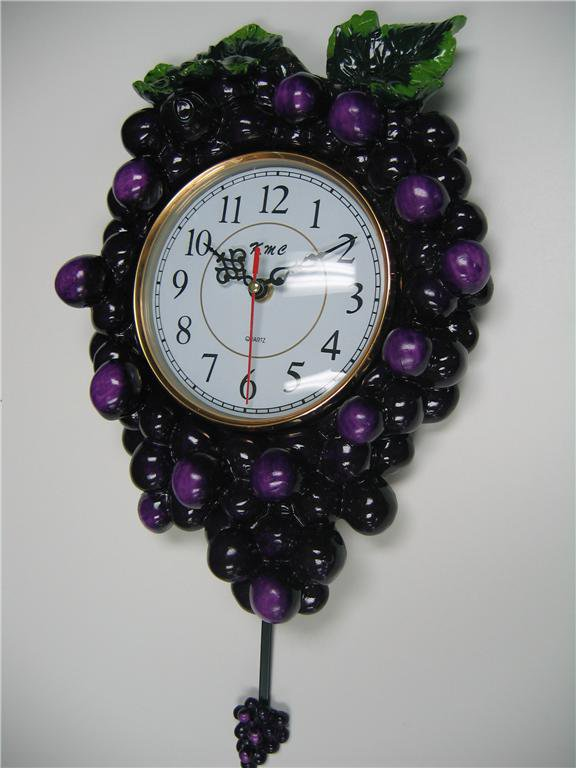 3D Grape pendulum wall clockKitchen Wine vineyard Toscan