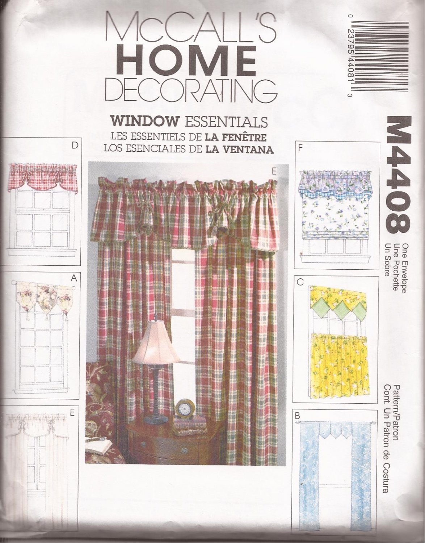 Mccalls Window Valance Curtain Panels Pattern
