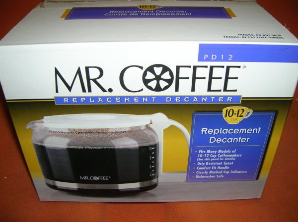 Coffee Replacement White Decanter #pd12 Upc 072179003717