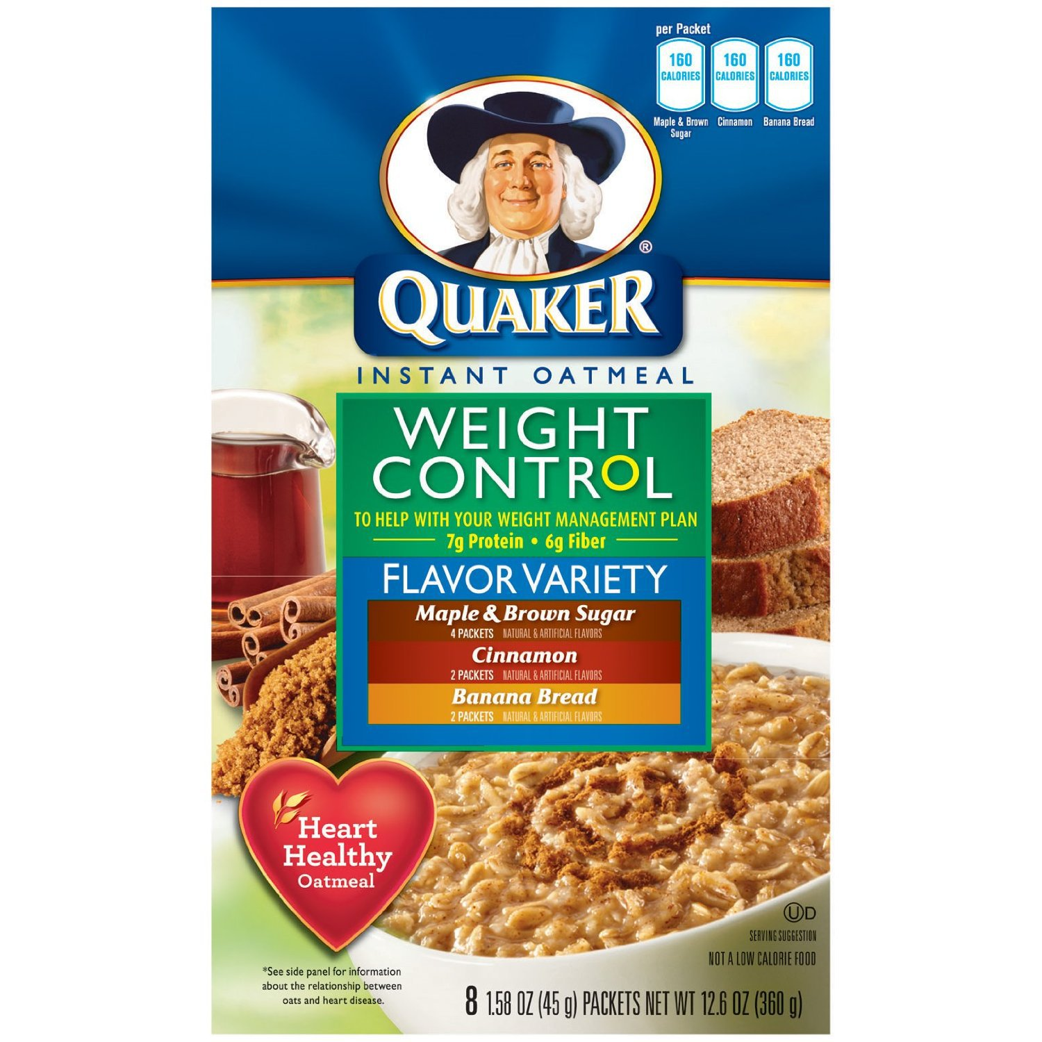 Control Weight Instant Oatmeal Quaker