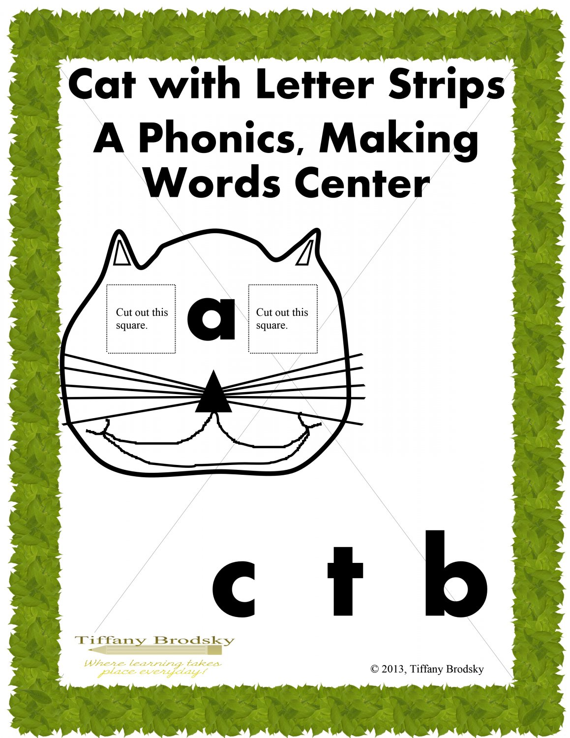 Fun Cat Phonics Making Words Reading Center Great For Esol Amp Ese Too