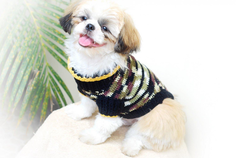 Handmade Dog Clothes , Cotton Dog Clothing , hand crochet