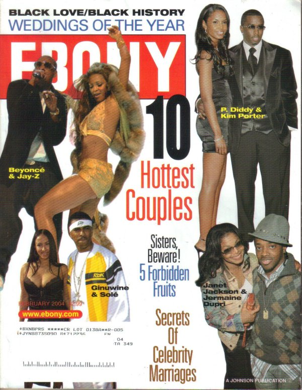 EBONY February 2004 10 Hottest Couples P Diddy Kim Porter
