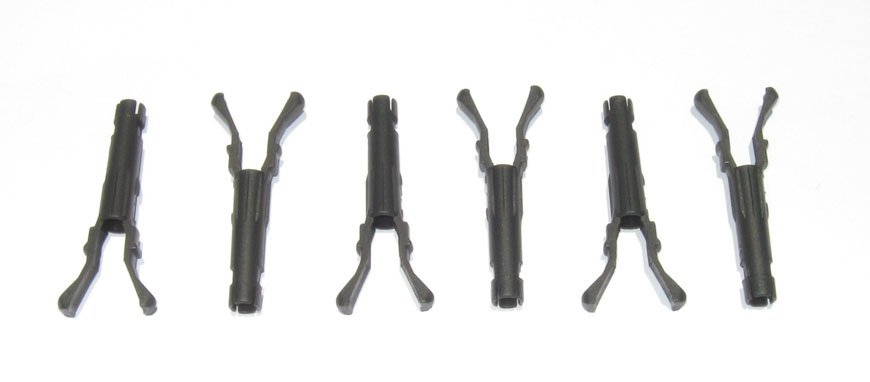 SET OF 6 VORTEC FUEL INJECTOR POPPET RETAINING CLIPS