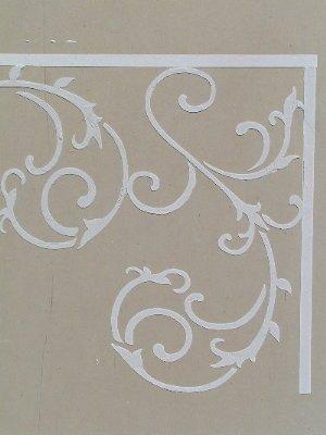 what s a chair rail swivel chairs canada raised plaster wrought iron stencil