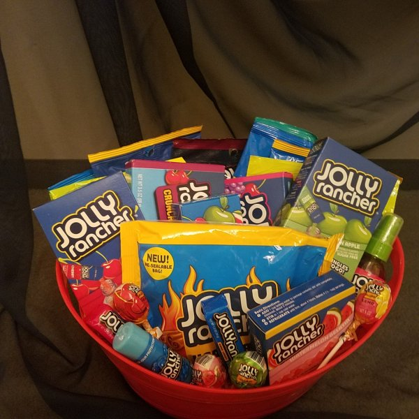 Jolly Ranchers Candy Basket