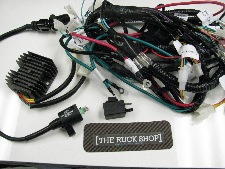 hight resolution of atr honda ruckus 150cc gy6 motor swap harness