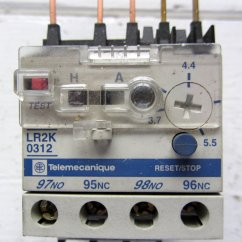 1 Phase Contactor With Overload Wiring Diagram International Truck Codes Telemecanique Lr2k0312 Relay 3 7 5 Amp No