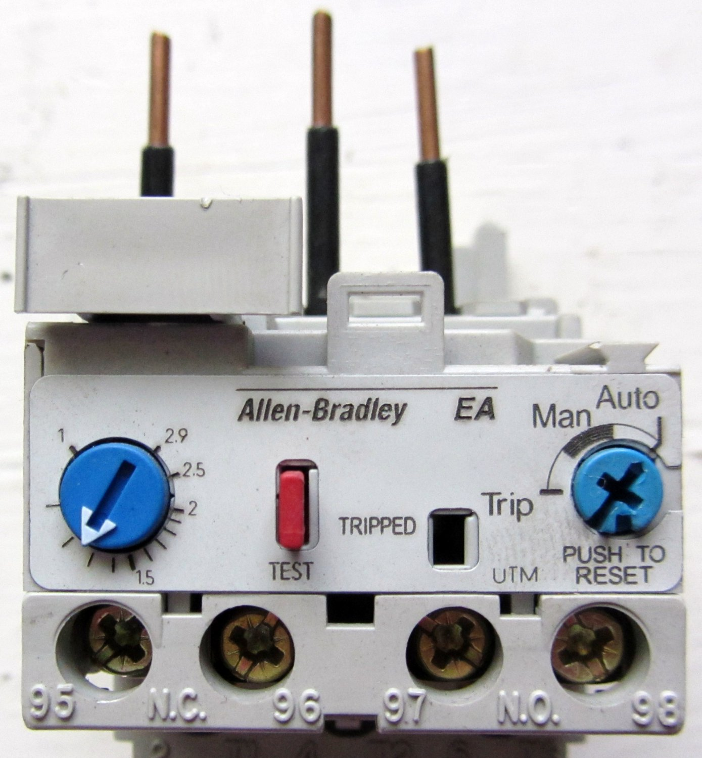 contactor and thermal overload relay wiring diagram intertherm mobile home electric furnace allen bradley 193 ea5db ser b 1 2 9 amp
