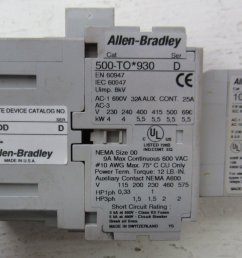 allen bradley 500 to 930 509 tod 100 f size 00 contactor 500to930 starter 690 32 509tod [ 1500 x 991 Pixel ]