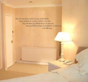 quote irish blessing wall art vinyl decal