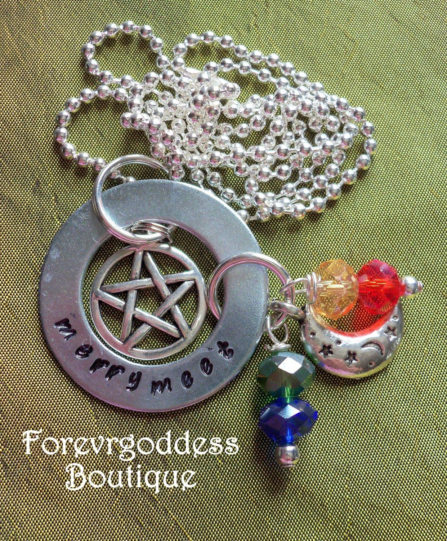 Merry Meet Pentagram Necklace