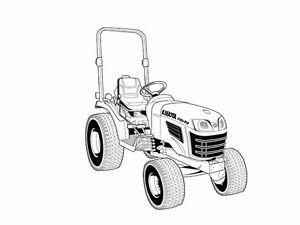 KUBOTA B2320 B2620 B2920 OPERATION MANUAL for Tractor