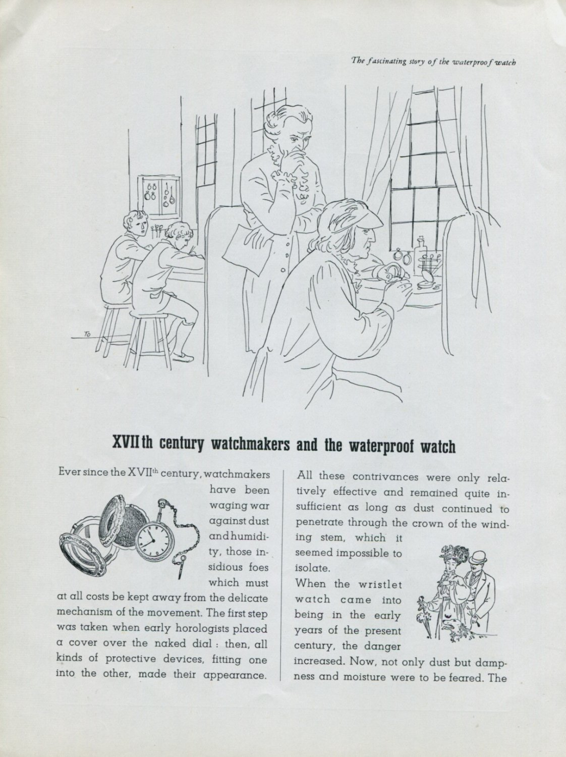 1948 Rolex Watch Co Fascinating Story of the Waterproof
