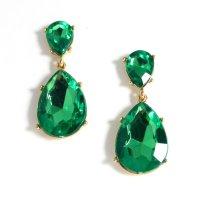 Emerald Teardrop Earrings KJL Angelina Jolie Oscar Kenneth ...