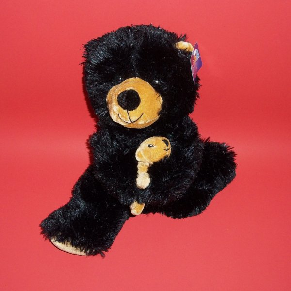 "Black Bear Plush Toys Goffa Int'l Corp 15 "" Soft Stuffed"