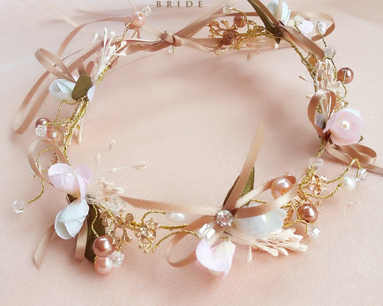 Wedding Bridal Vintage Bow Flower Crystal Tiara Pearl