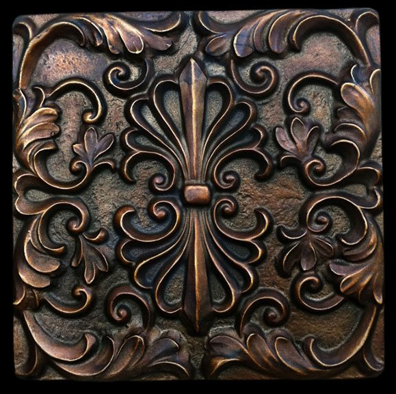 artwork for kitchen sink farmhouse style bronze finish decorative backsplash tile