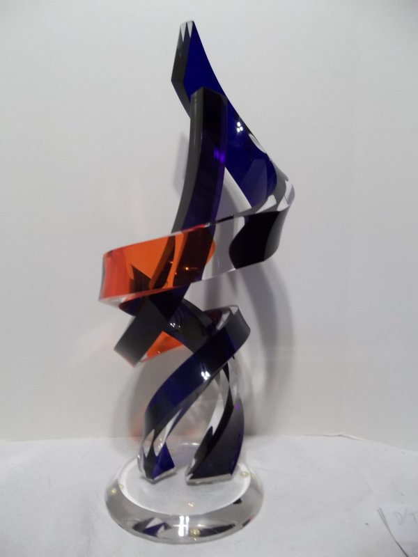Modern Abstract Lucite Acrylic Custom Sculpture Grant