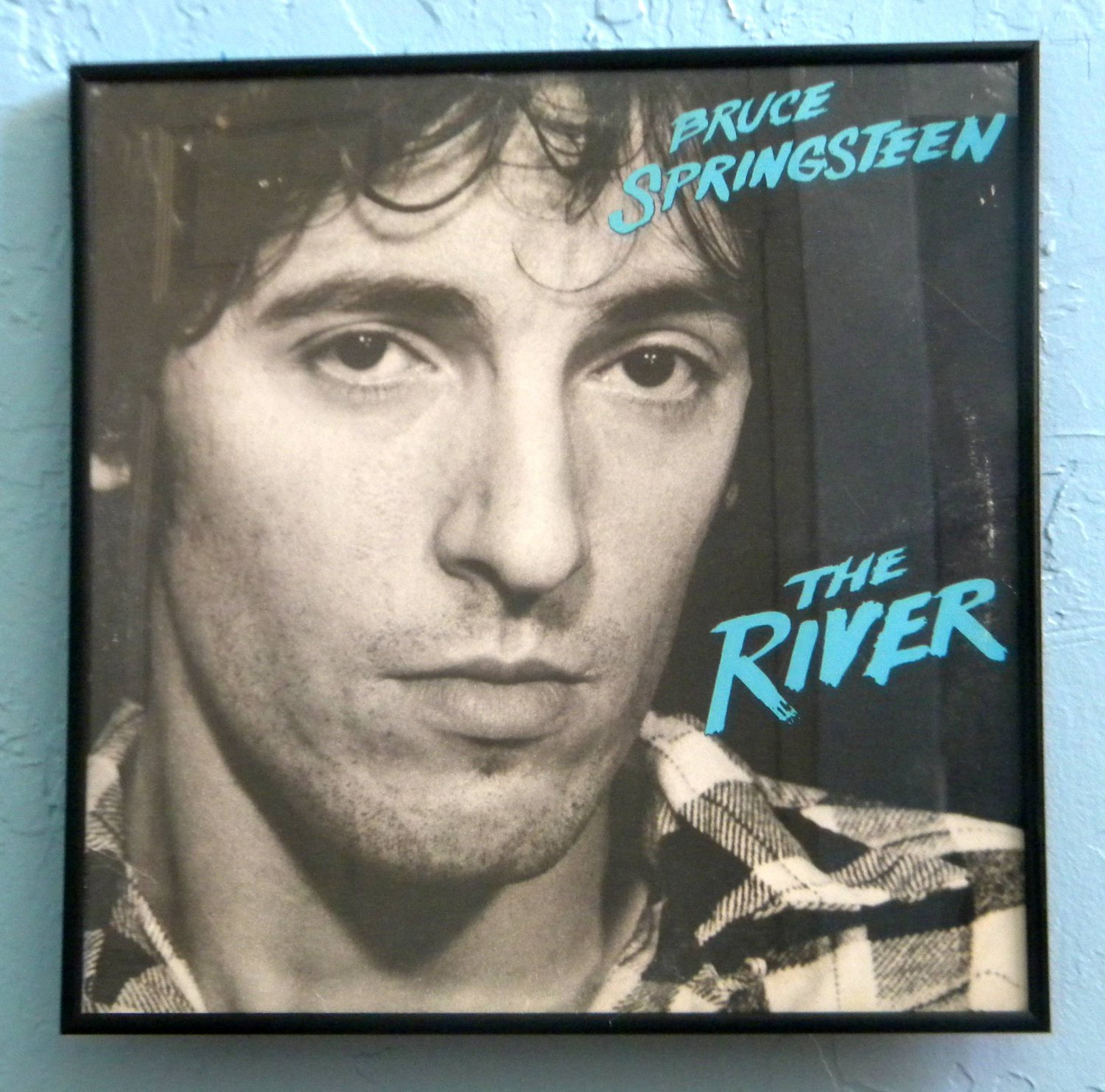 Rainbow Wall   Framed Vintage Record Album - Bruce Springsteen - The River