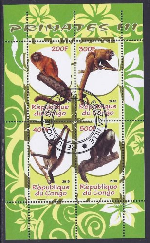 CONGO PRIMATE STAMPS