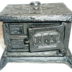Cast Iron Kitchen Stove Cabinet Liners Vintage Dollhouse Dot Wood Burning