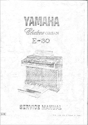 Yamaha E45 E-45 Service Manual