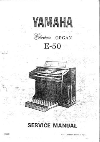 Yamaha EG012U EG-012U Service Manual