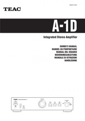 Teac A1D A-1D Operating Guide