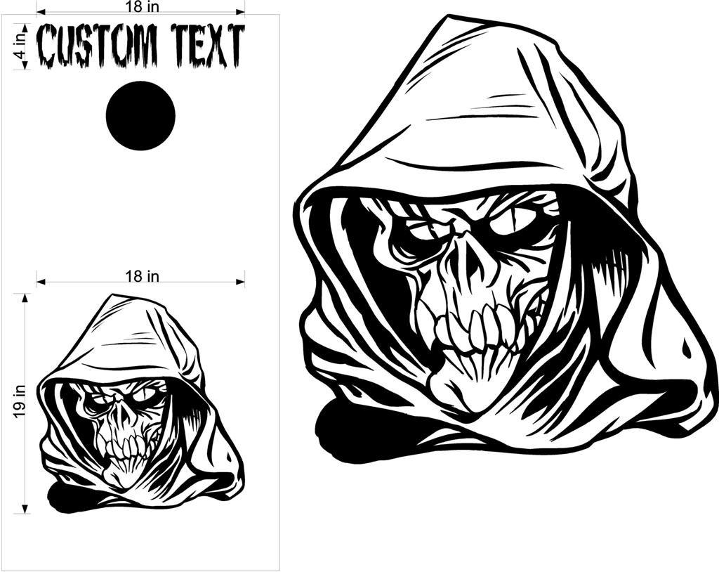 Custom Cornhole Board Decals Stickers Skulls Amp Jokers 424