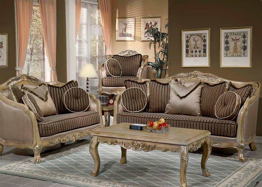 2PC Formal Traditional High end Luxury Sofa,Love Seat Living Room Set ZHD703