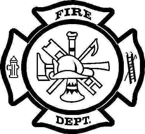 fire department maltese cross vinyl decal sticker 9.19