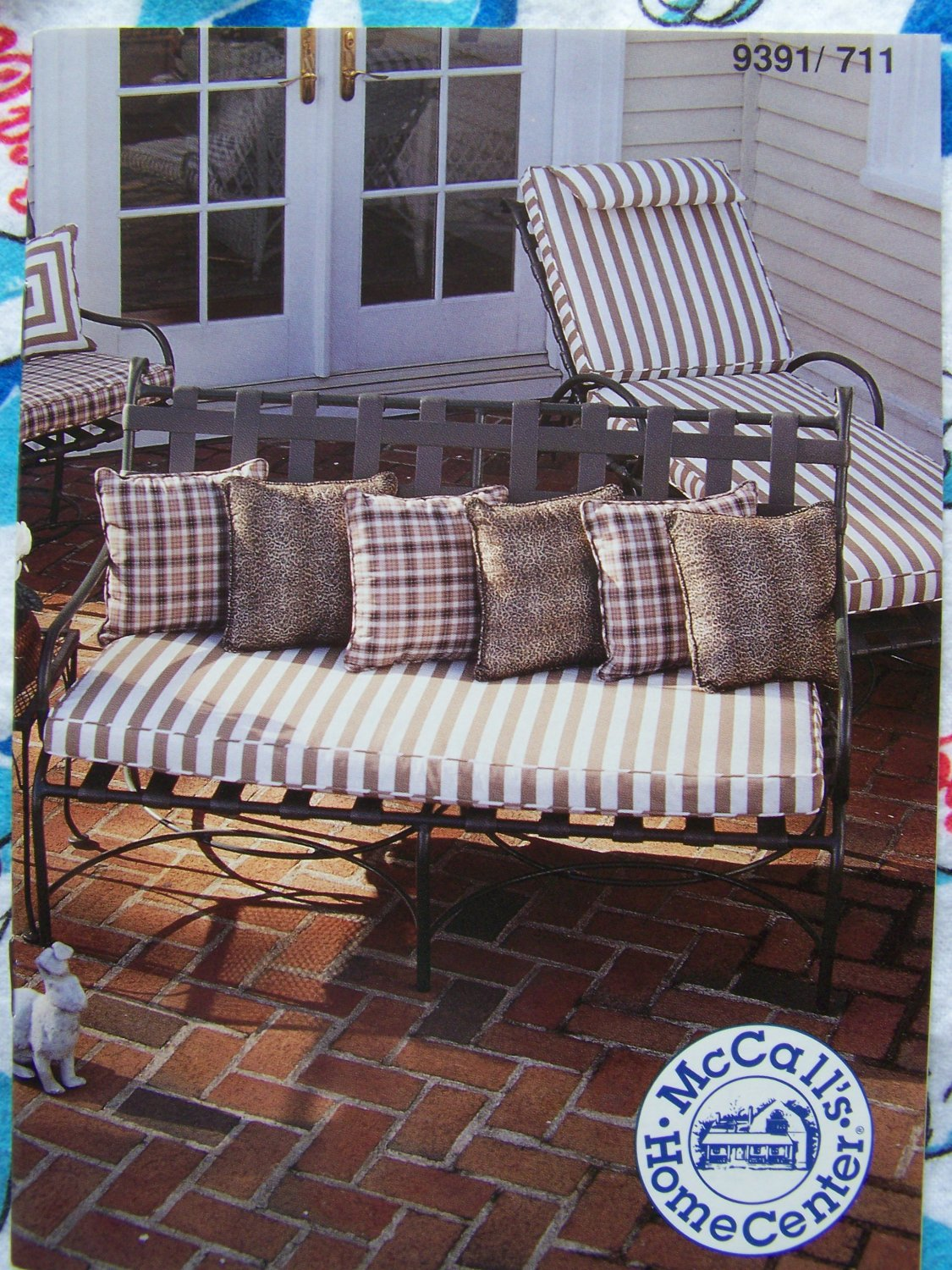 sewing patterns for chair cushions teak dining upholstery new and instructions recovering outdoor