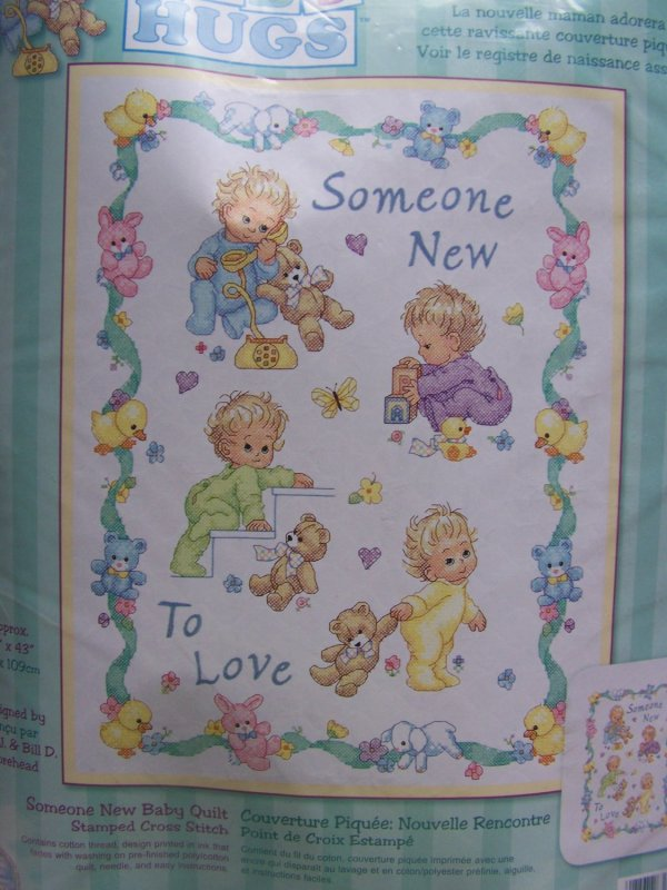 Dimensions Baby Hugs Stamped Cross Stitch