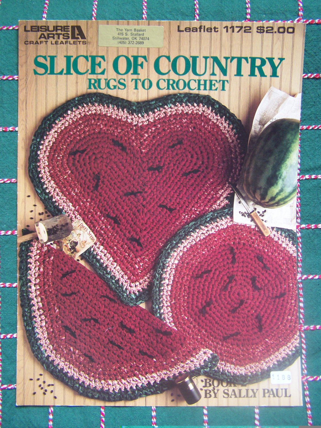 Vintage Rag Fabric Crochet Rug Patterns Country Kitchen