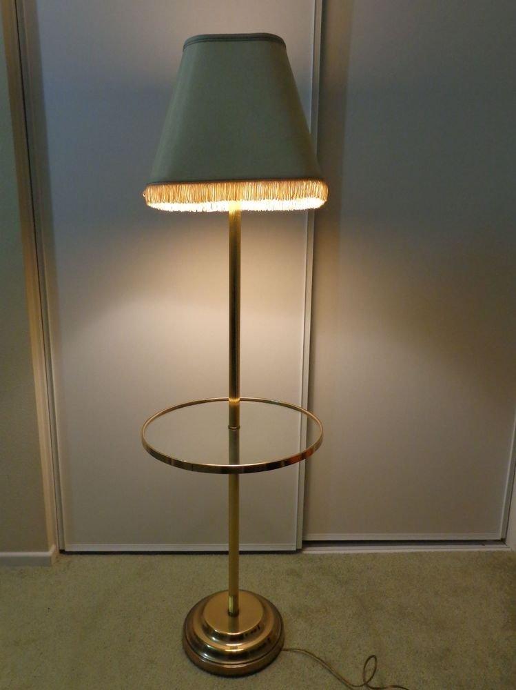 Antique/Vintage Frederick Cooper Floor Standing Lamp Glass