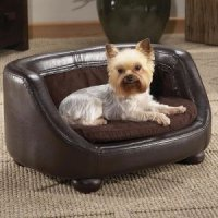 Small Dog Sofa Brown Pet Bed Dog Sofa Rivet Furniture For ...